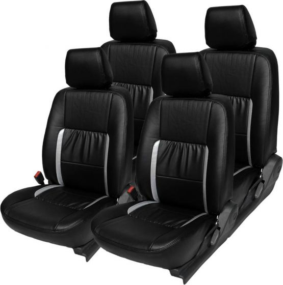 Surprising Volkswagen Ameo Car Leatherite Seat Cover 1007 Black And Silver Ocoug Best Dining Table And Chair Ideas Images Ocougorg