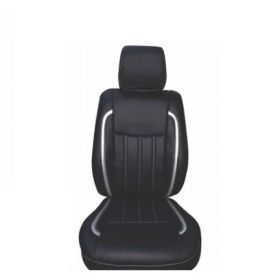 Chevrolet Spark Car leatherite seat cover (1010) Black And Silver