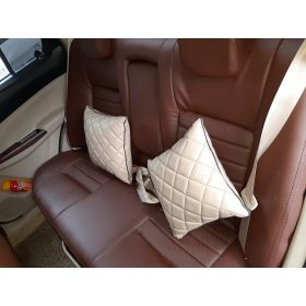 Kia Seltos leatherite seat cover (1011) Coffee