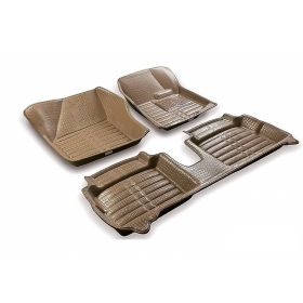 Autoxygen 5D CAR Foot Mat Beige Floor Mat For Maruti Suzuki Swift