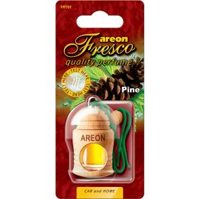 Areon Fresco Pine Car Wood Perfume Scent Container Air Freshener (4 ml)