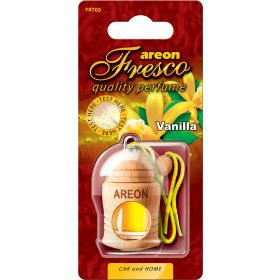 Areon Fresco Vanilla Car Wood Perfume Scent Container Air Freshener (4 ml)