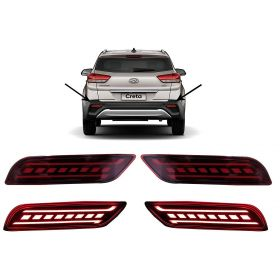 Autoxygen Back Bumper Rear Reflector DRL_1 For Hyundai Creta 2018 Onwards