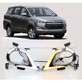 Toyota Innova Crysta 2016 Onwards Car Fog Lamp LED Reflector Day Time Running Light (Set Of 2 Pcs.)