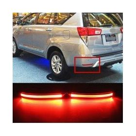Autoxygen Back Bumper Rear Reflector DRL 2 Toyota Innova Crysta - Set of 2 Pcs