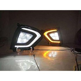 Autoxygen Car Fog Lamp LED Reflector Day Time Running Light For Hyundai Creta (2018 Onwards)- Set of 2 Pcs