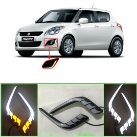 Maruti Suzuki Swift (2015 to 2017) Car Fog Lamp LED Reflector Day Time Running Light - Set of 2 Pcs