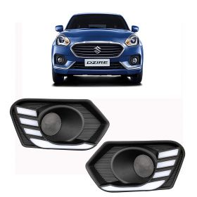 Autoxygen Car Fog Lamp LED Reflector Day Time Running Light For Maruti Suzuki Swift Dzire 2017 Onwards (Set Of 2 Pcs.)