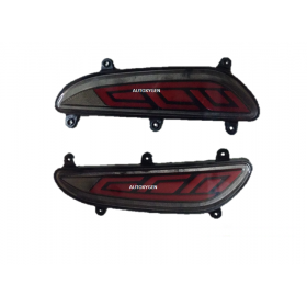 Autoxygen Back Bumper Rear Reflector DRL 3 For Hyundai I20 Elite  - Set of 2 Pcs