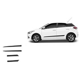 Hyundai i20 Elite Side Door Beading Black Door Protector (Set Of 4 Pcs.)