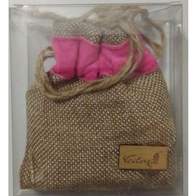 Vedic Jute Bag Car Handing Perfume Rose