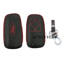 Ford New Ecosport Leather Remote Key Cover Push Button Start (Color May Vary)