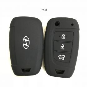 Hyundai Verna 2017 Onwards Silicone Remote Key Cover 3 Button Flip key (Set Of 2 pcs.)