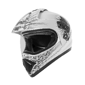 Gliders MC-1 Motocross Helmet D3 White And Silver (XL-600mm)