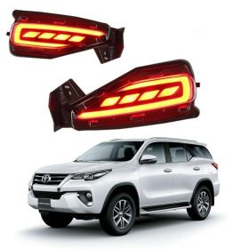 Autoxygen Back Bumper Rear Reflector DRL 2 Toyota Fortuner New 2016 ONWARDS - Set of 2 Pcs