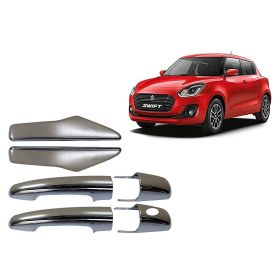 Maruti Suzuki Swift 2018 Onwards Car Chrome Plated Door Handle Cover