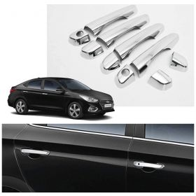 Hyundai Verna fludic (2017 Onwards) Car Chrome Plated Door Handle Cover