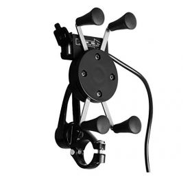 Bike X-Grip Mobile Phone Holder with USB Charger