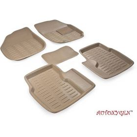 Maruti Suzuki Swift Dezire 3D/4D CAR Foot Mat (Beige) Floor Mat
