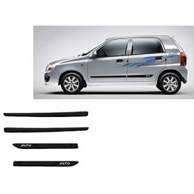Maruti Suzuki Alto K10 Side Door Beading Black Door Protector (Set Of 4 Pcs.)