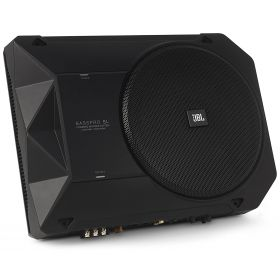 JBL BassPro SL 8-inch 125W RMS Powered Under-Seat Compact Subwoofer Enclosure System (Black)