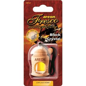 Areon Fresco Black Crystal Car Wood Perfume Scent Container Air Freshener (4 ml)