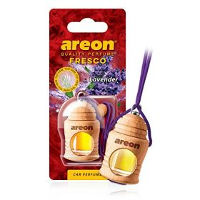 Areon Fresco lavender Car Wood Perfume Scent Container Air Freshener (4 ml)
