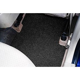 Car Anti Skid Curl Foot Mat Grass Floor Mat Universal - Black