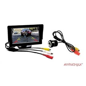 Car 4.3 inch Rear View Full HD Dashboard Screen And 8 LED Night Vision Waterproof Reserve Parking Camera