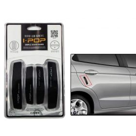 Car i-pop Simple Black Car Door Scratch Guard Protector
