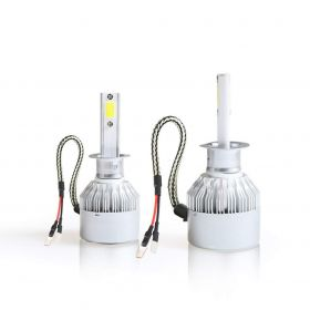 C6-H1 Conversion Kit 36W Car 3800LM 6000K White HID Waterproof LED Headlamp Bulbs (Set of 2)