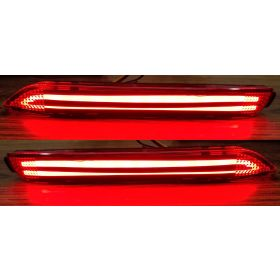 Autoxygen Back Bumper Rear Reflector DRL Toyota Innova - Set of 2 Pcs