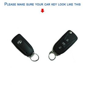 Tata Safari Storme/Zest/Bolt/Tiago/Zica Silicone Remote Key Cover 3 Button Flip Key Only (Set Of 2 pcs.)