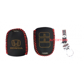 Honda City and New Honda Jazz Car Leather Remote Key Cover (Color May Vary)