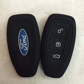 Autoxygen Silicone Remote Key Cover For Ford Ecosports 3 Button Push Button Start Set Of 2 pcs.