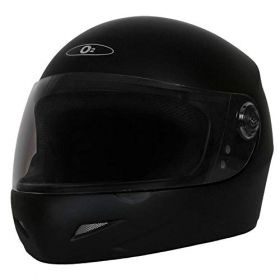 O2 Max Pro Helmet Black With Clear Poly Carbonate Visor (M-580mm)