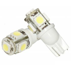 RA-5SMDW 5 SMD 5050 LED T10 Parking Indicator Socket Light (White, 12V)