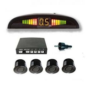 Car Reverse Car Parking Sensor LED Display White